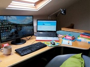 My desk and office