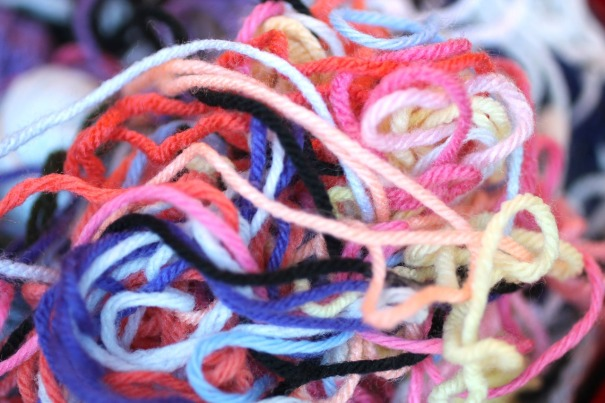 Tangled threads of wool